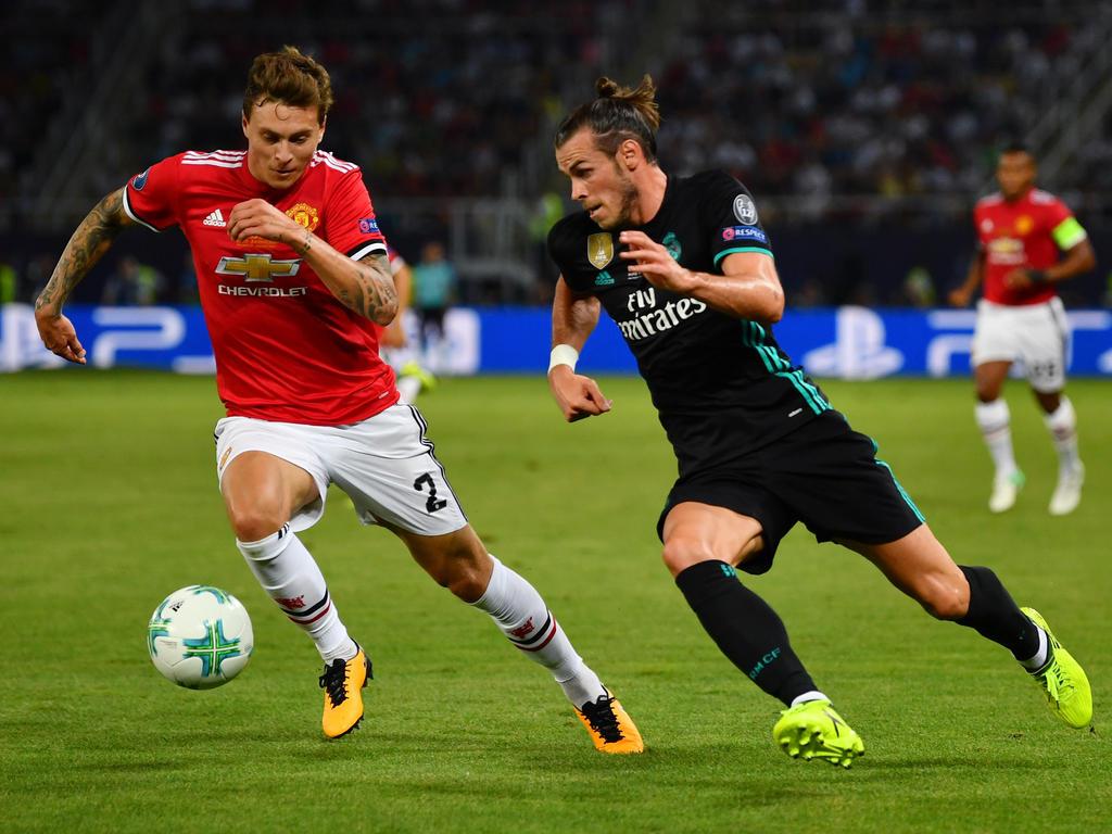 Gareth Bale (r.) wird nicht zu Manchester United wechseln