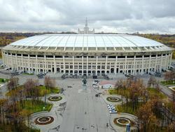 Das Luzhniki-Stadion in Moskau ist das größte Fußballstadion Russlands