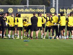 Die Dortmunder Mannschaft erlebte am Morgen einen kleinen Schock
