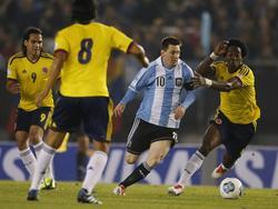 Falcao se enfrentó a Messi en las Eliminatorias en 2013. (Foto: Getty)