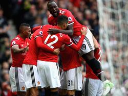 El United celebra un tanto en el partido ante el Crystal Palace. (Foto: Getty)
