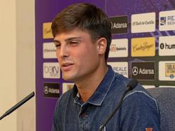 Markel Etxeberria en su presentación como jugador del Valladolid. (Foto: Imago)