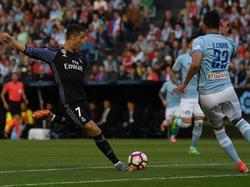Cristiano haciendo el primer gol en Balaídos (Foto: Getty)
