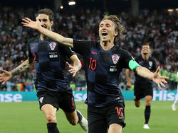 Luka Modric jubelt nach seinem Traumtor