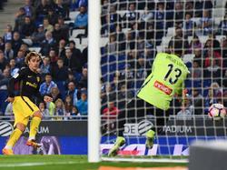 Griezmann batiendo a Diego López (Foto: Getty)
