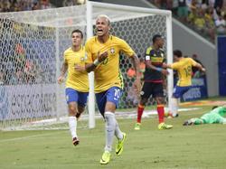 Neymar und Brasilien feiern den Sieg über Kolumbien