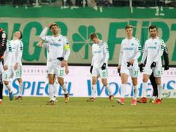 Greuther Fürth steckt nach der Pleite gegen Aue mehr denn je in Abstiegsgefahr