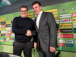 Max Eberl (l.) und Dieter Hecking arbeiten seit Januar 2017 zusammen