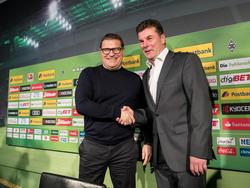 Max Eberl hat Trainer Dieter Hecking den Rücken gestärkt