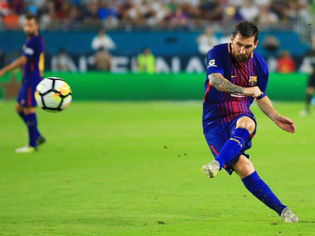Ist mit dem FC Barcelona im Supercup gegen Real Madrid gefordert: Lionel Messi
