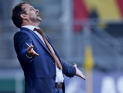 Željko Petrović tijdens zijn debuut als coach van ADO Den Haag. Zijn ploeg wint met 3-0 van Go Ahead Eagles. (06-08-2016)