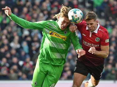 Niclas Füllkrug (r.) könnte in der nächsten Saison für Gladbach auflaufen