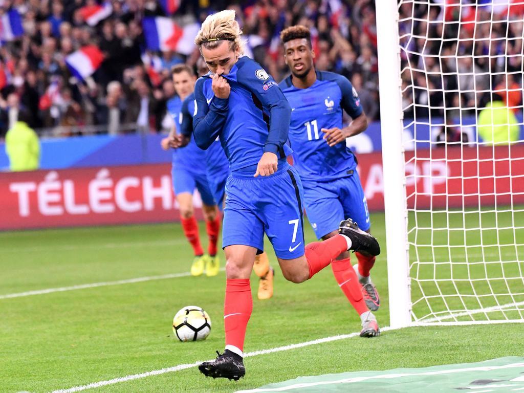 Antoine Griezmann stellte für Frankreich früh die Weichen