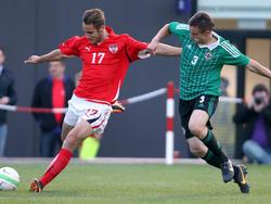 Österreichs neu formierte U19-Auswahl (Jahrgang 1995) setzte sich gegen Nordirland mit 2:1 durch.