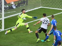 Mario Gomez traf zum zwischenzeitlichen 2:0 für Deutschland