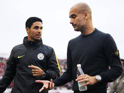Pep Guardiola und Mikel Arteta