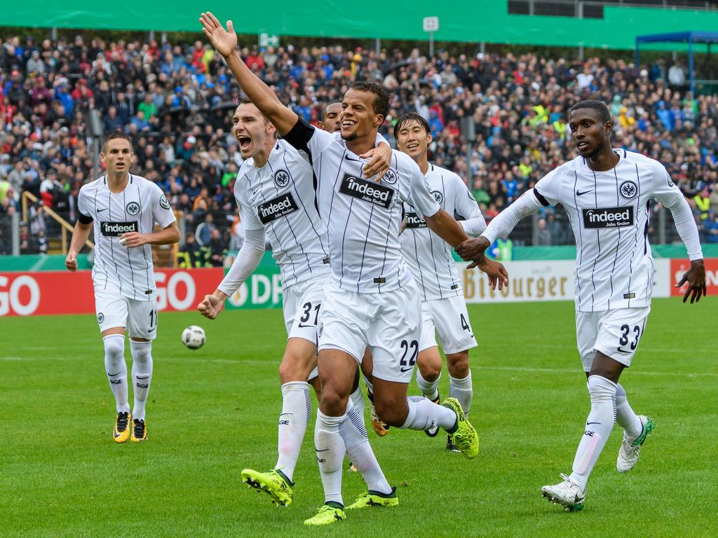 Eintracht Frankfurt steht in Runde zwei