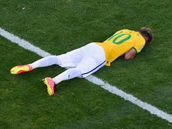 Am Boden: Neymar wird bei der WM nicht mehr für Brasilien auflaufen können
