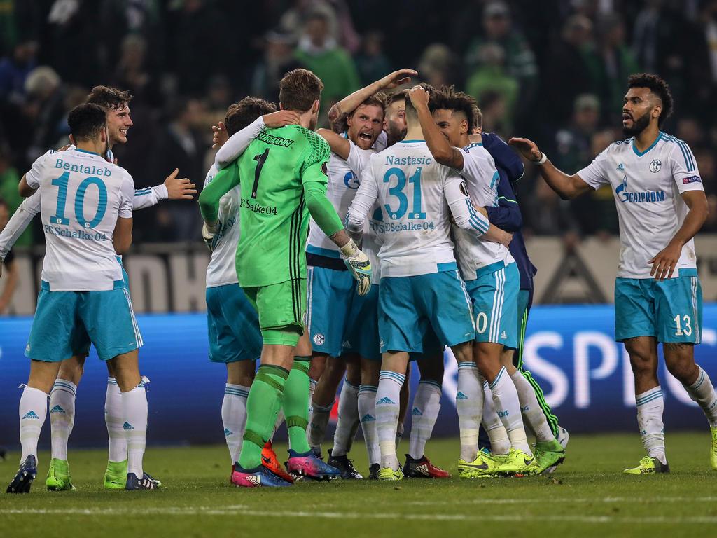 Schalke 04 feierte den Einzug ins Viertelfinale der Europa League