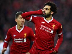 Salah celebra un gol con el Liverpool. (Foto: Getty)