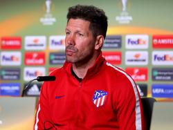 Atlético-Coach Diego Simeone muss das Finale von der Tribüne aus verfolgen