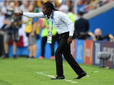 Coach Aliou Cissé und der Senegal gewannen ihr Auftaktspiel gegen Polen mit 2:1