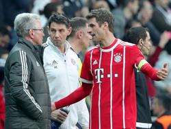 Thomas Müller (r.) nennt die größten Brocken fürs Viertelfinale