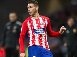 Lucas Hernández con la camiseta del Atlético de Madrid. (Foto: Getty)