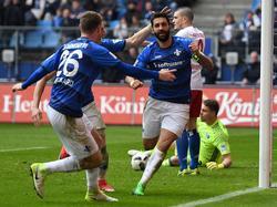 Aytaç Sulu und der SV Darmstadt feierten in Hamburg den ersten Auswärtssieg der Saison