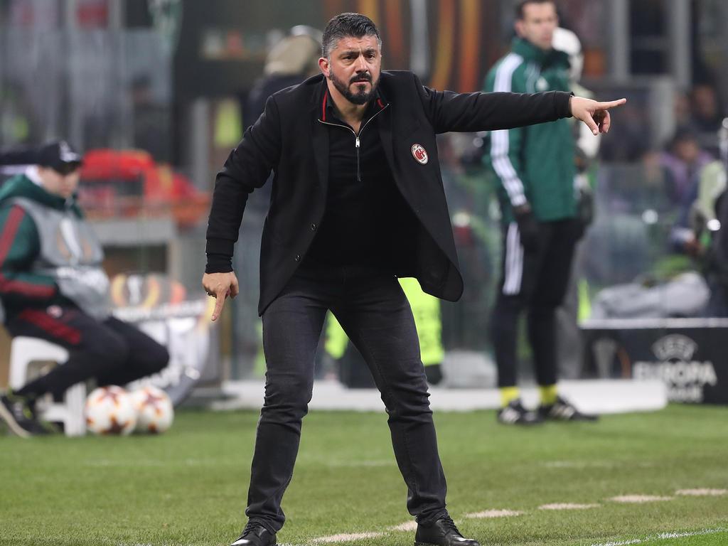 Trainer Gennaro Gattuso hat seinen Vertrag beim AC Mailand bis 2021 verlängert