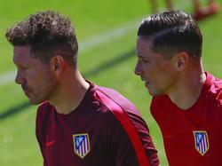 Simeone y Torres en un entrenamiento. (Foto: Getty)
