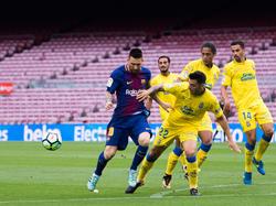 Lionel Messi traf doppelt für den FC Barcelona gegen Las Palmas