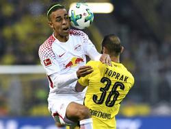 Ein wichtiges Duell im Topspiel vom Samstag: Yussuf Poulsen (l.) gegen Ömer Toprak