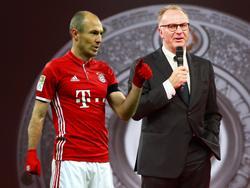Arjen Robben (l.) soll seinen Vertrag beim FC Bayern verlängern