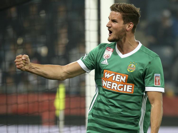Sein erstes Pflichtspiel für Rapid bestritt Hofmann bereits vor fünf Jahren