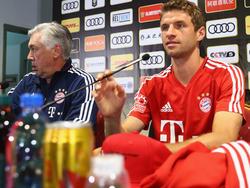 Carlo Ancelotti (r.) und Thomas Müller funkten nicht immer auf einer Wellenlänge