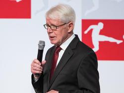 Ligapräsident Reinhard Rauball in Frankfurt beim Jahresempfang