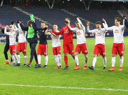 Die Jungbullen feiern ihren 2:1-Sieg über Atlético Madrid