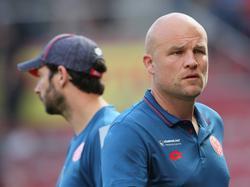 Sportvorstand Rouven Schröder (r.) fordert mehr Geduld in Mainz