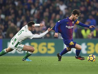 Lionel Messi (r.) steuerte einen Doppelpack zu Barcas Auswärtssieg bei