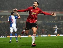 Zlatan Ibrahimović schoss Manchester United ins Viertelfinale des FA Cups