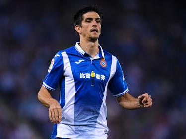 Gerard Moreno en un duelo de liga de este año con el Espanyol. (Foto: Getty)