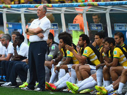 Brasiliens Nationaltrainer Luiz Felipe Scolari ist völlig konsterniert