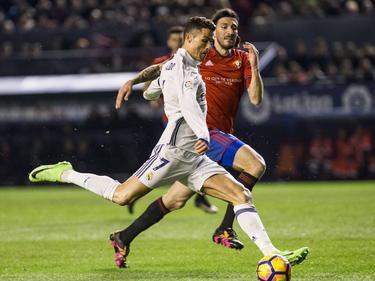 Cristiano Ronaldo erzielte den ersten Treffer für Real gegen Osasuna