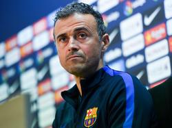Luis Enrique en sala de prensa del Camp Nou. (Foto: Getty)