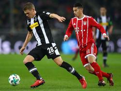 Bayerns James Rodríguez (r.) erlitt musste frühzeitig ausgewechselt werden