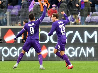 Gio Simeone anotó el tanto de los locales en Florencia. (Foto: Imago)