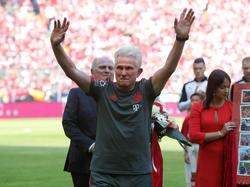 Bayern-Coach Jupp Heynckes bei seiner emotionalen Verabschiedung