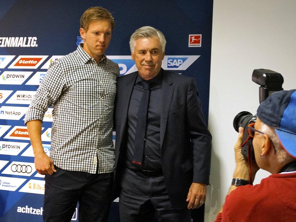 Bayern-Trainer Ancelotti (re.) hat sich zu Nagelsmann geäußert