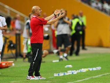 Iraks Trainer Radhi Shenaishil wurde eigens für den Asian Cup vom Qatar SC ausgeliehen